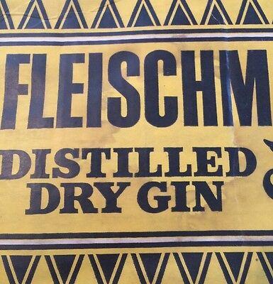 RARE VINTAGE FLEISCHMANN/'S DISTILLED DRY GIN BAR DOOR WINDOW OPEN CLOSED SIGN