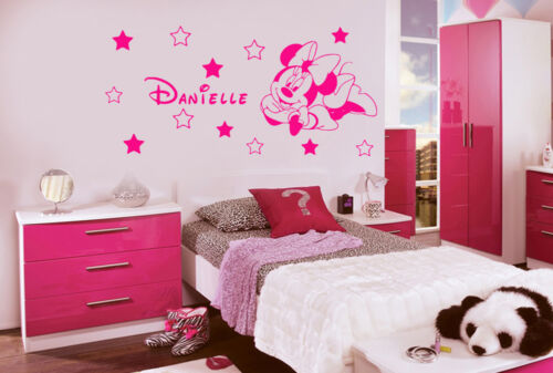 Disney Wall Stickers Personalised Minnie Mouse Wall Art Stcikers Decals Murals