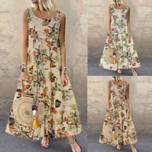 Sexy-Women-Plus-Size-Bohe-O-Neck-Floral-Print-Vintage-Sleeveless-Long-Maxi-Dress