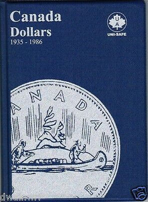 UNI-SAFE  CANADIAN  DOLLARS  FOLDER  ALBUM  BLUE #5 1935-1986