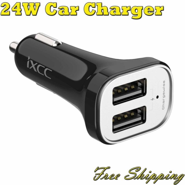 Original 24W Dual USB Car Charger Adapter Charging for iPhone Android Devices