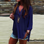 thumbnail 13 - Women-Long-Sleeve-Chiffon-T-Shirt-Ladies-Summer-Loose-Tops-Blouse-Plus-Size-Hot