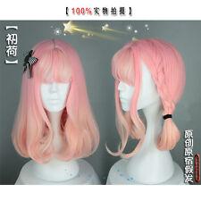 realistic Full Wig Cosplay bang long Hair Pink yellow gradient  harajuku lolita