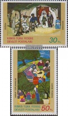 Türkisch-zypern 120-121 kompl.ausg. Postfrisch 1982 Gemälde äRger LöSchen Und Durst LöSchen