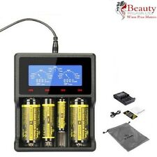 XTAR VC4 LCD Screen USB Battery Charger AA AAA 18650 14500 32650 Li-ion Ni-MH