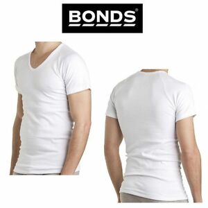 Mens-Bonds-White-Deep-Crew-Undershirt-Underwear-Short-Sleeve-Tee-Top-M-4XL-M912