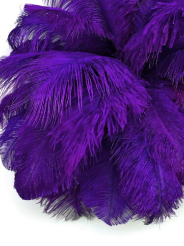 "19-24/"" Purple Ostrich Dyed Drab Body Feathers Centerpiece Supplier 10 Pieces"