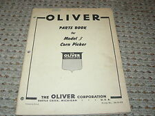 Oliver White Tractor Model 3 Corn Picker Dealers Parts Book