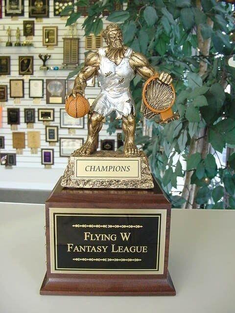 Fantasy baloncesto TROFEO individuales con Grabado Libre De Monstruo Sin Etiquetas