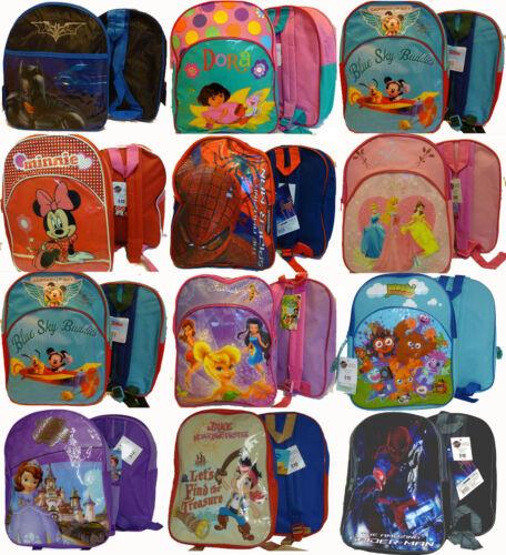 Children/'s Disney Character bags Nursery School rucksack Backpack VARIOUS prints
