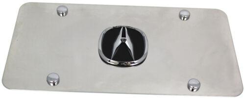 Acura Black Logo Front License Plate Frame Stainless Steel 3D Metal Frame