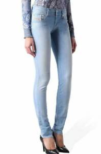 NWT DIESEL JEANS Sz28X32 GRUPEE SUPER SLIM SKINNY STRETCH jeans WASH ORZO5