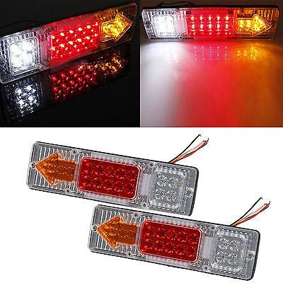 2x 12V 19 LED Truck Trailer Caravan Rear Tail Stop Reverse Indicator Light Lamp