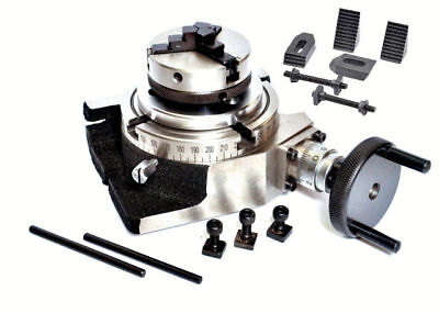 """Rotary Table 4/""""//100mm Tilting with 65mm Lathe Chuck /& Clamping Kit"""