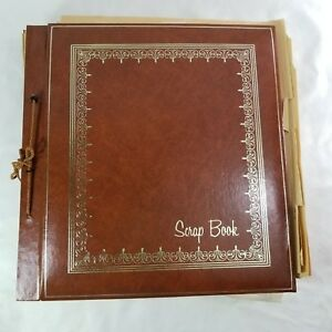 Vintage-Scrapbook-1950s-1980s-32-Pages-Letters-Cards-Postcards-Clippings