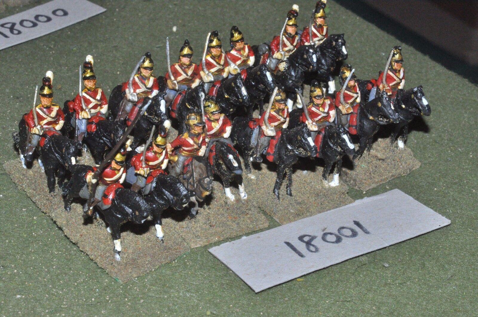 25mm napoleonic   british - dragoons 16 cavalry - cav (18001)