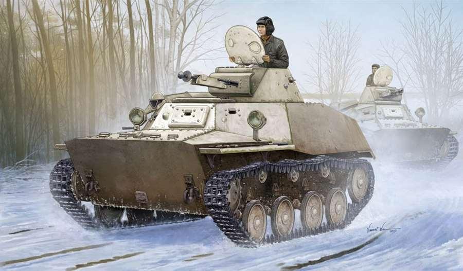 83826 Hobbyboss Russian T-40S Light Tank Plastic Armored Car 1 35 Model Kit DIY