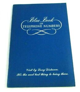 UNUSED Blue Book Of Telephone Numbers Address Book New Jersey Bell 1960 Vintage