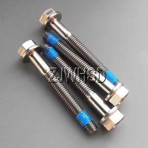 4pcs-M5-x-40-mm-Titanium-Ti-Screw-Bolt-Hexagon-Hex-Head-Flange-Thread-Loker