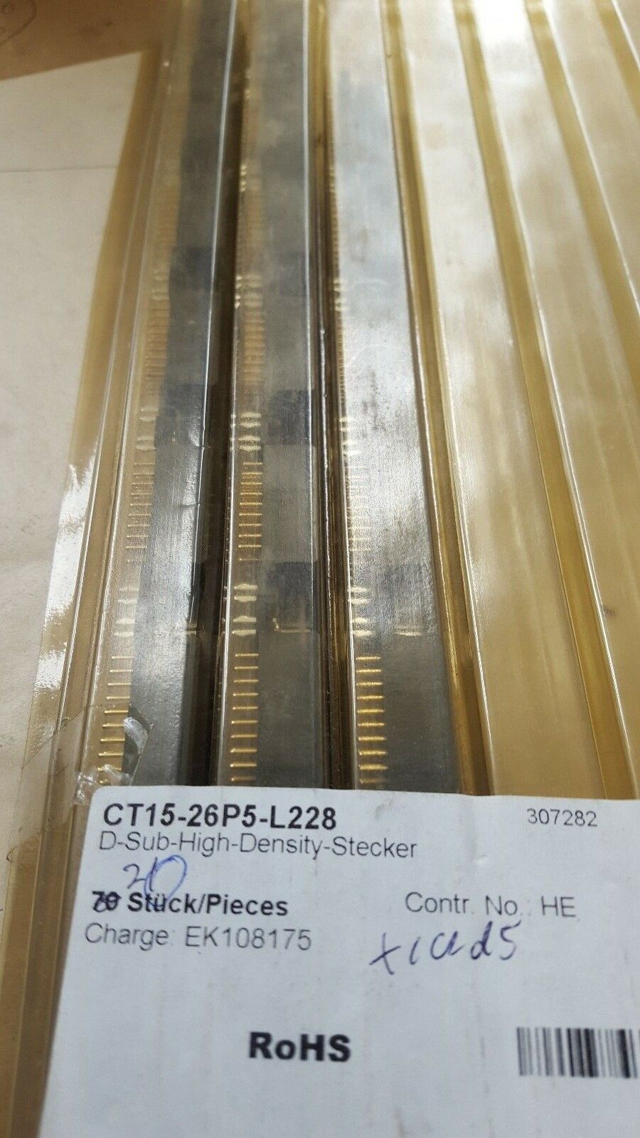 20 PCS OF FCT CT15-26P5-L228 D-Sub High Density Connectors (U3.5B4)