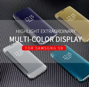 COVER-CUSTODIA-SMART-VIEW-SPECCHIO-CLEAR-FLIP-Per-Samsung-Galaxy-S9-S9-PLUS