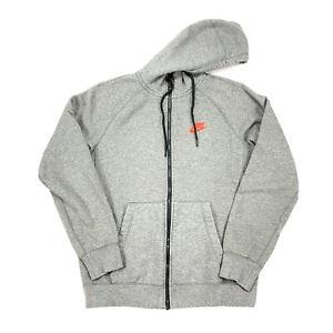 Nike Tech Fleece Mens Gray Red Full Zip Hooded Sweatshirt Jacket Size Small Ebay