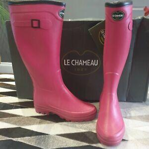 Le Chameau City Alltracks Tissu Doublé Bottes Femmes Taille 37 Uk 4 Rose Fuschia-afficher Le Titre D'origine Large SéLection;