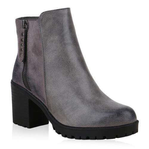 Klassische Damen Stiefeletten Modische Boots Zipper 825125 Schuhe