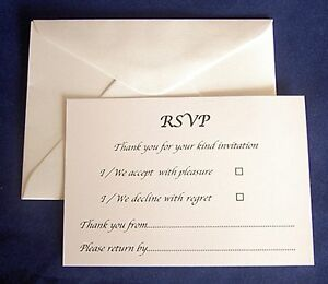 Image Is Loading RSVP Card Amp Envelopes A7 Baptism Christening Birthday