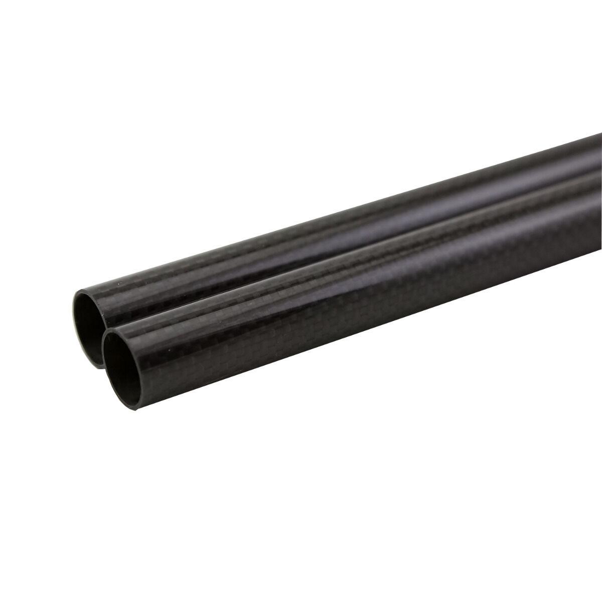 2Pcs 500mm 3K Fibra De Carbono 100% Rollo envuelto Tubo 36mm40mm500mm de superficie brillante