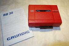 Grundig ROT Kassette Player BB 38 . Top Zustand