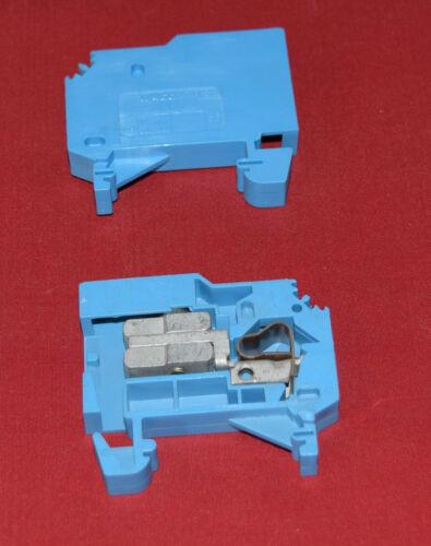 WAGO 284-113  WAGO N-Trenn-Reihenklemme 10qmm blau NEU P5