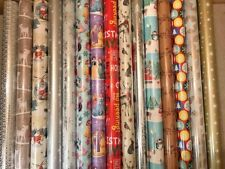 4m - 48m METRES CHRISTMAS WRAPPING PAPER PRESENT WRAP SANTA ASSORTED DESIGNS NEW