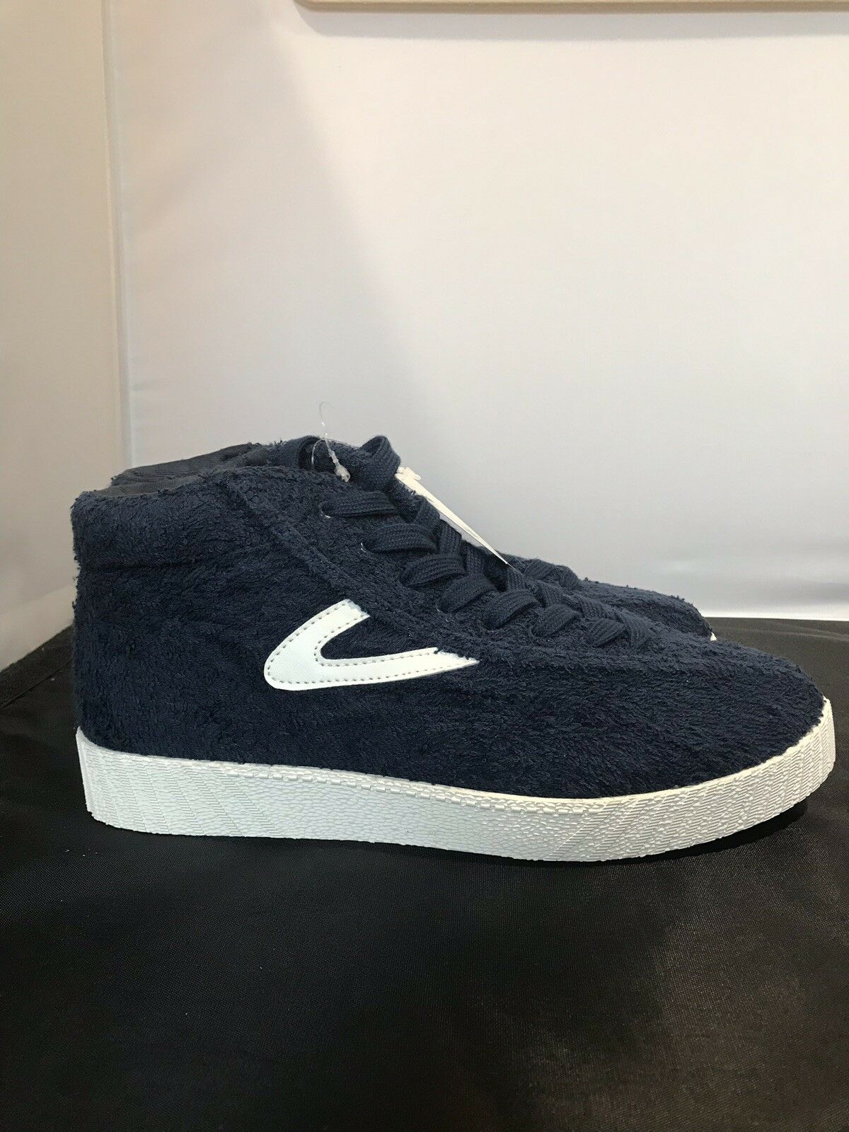 New  Tretorn Womens NY Lite Terry Cloth Hi Top bluee Sneakers 7M