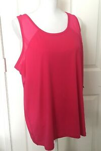 NWT-Anne-Klein-Performance-Active-Sport-Tank-Top-Pink-Size-2X