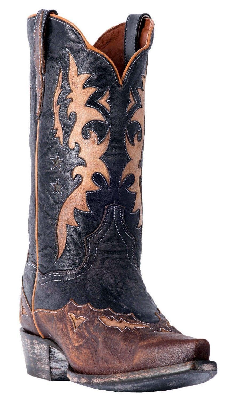 Dan Post Kellen -DP2565 Men's Brown Rustic Leather Cowboy Boots
