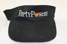 Party Poker .com black visor internet gambling TV online gaming