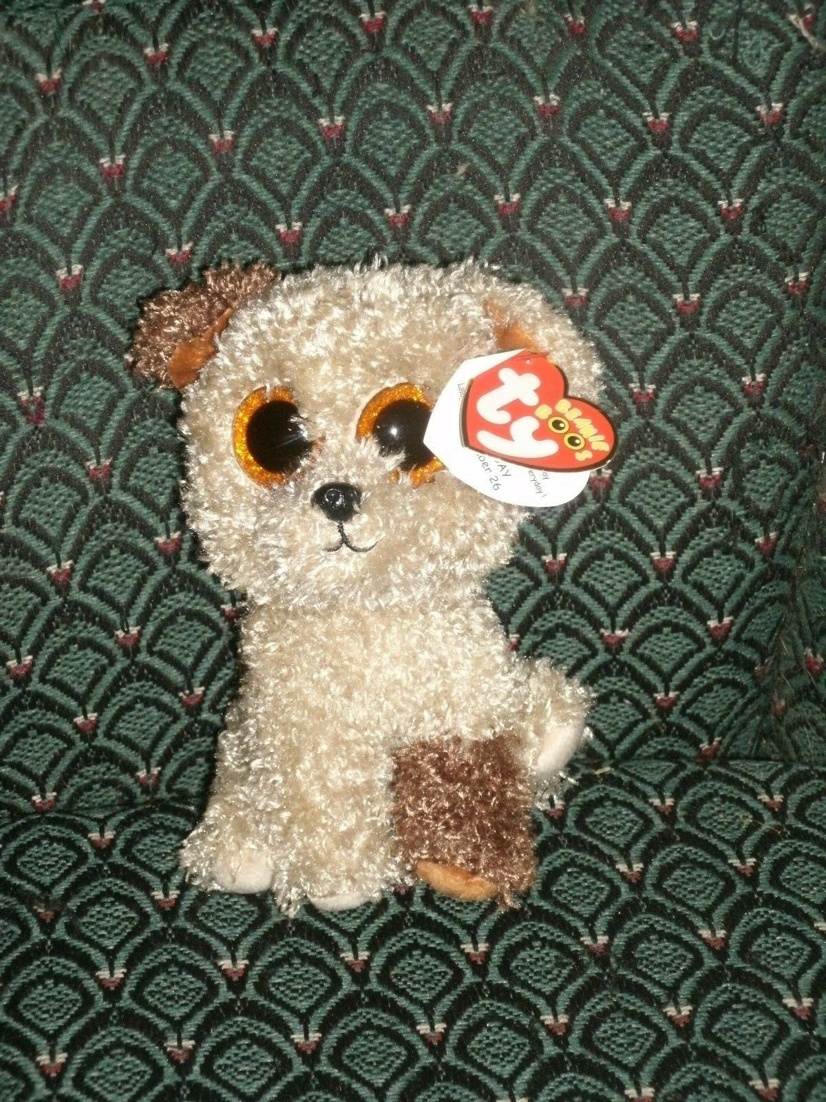Ty Beanie Boo 6  Dog ROOTBEER  MWMT  RED tag  RARE  Glitter eyes  Retired