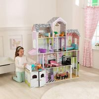 Kidkraft Grand Estate Wooden Girls Dolls House Dollshouse Fits Barbie Dollhouse