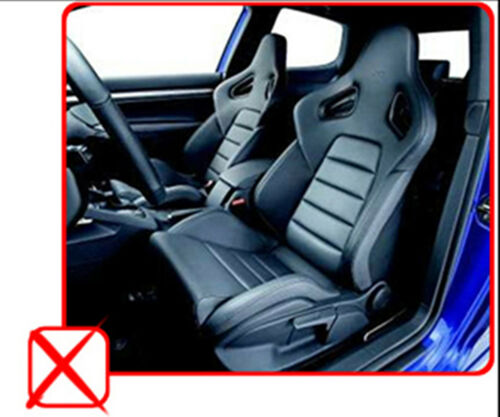Car Seat Covers 2 Front PU Leather Compatible to Audi Red//Black 853
