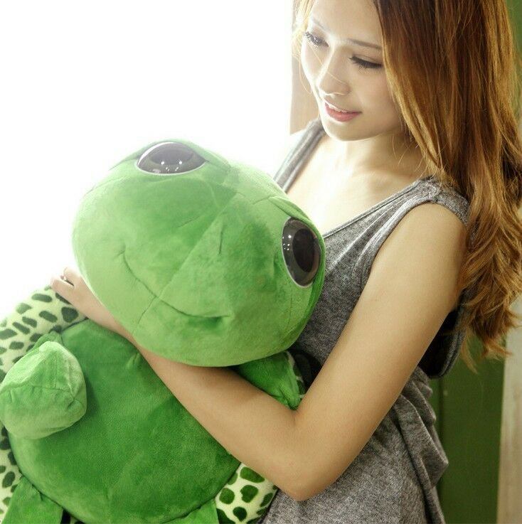 Green Tortoise Stuffed Plush Toys Cute Turtle Pillow Dolls Cushion Funny Gifts