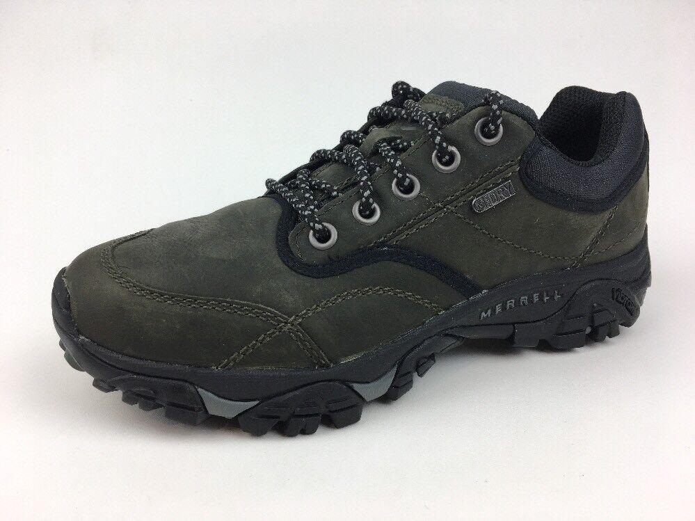 MERRELL Men's MOAB ROVER WP Castle Rock Leather Hiking Shoe US 7.5 J23441 095