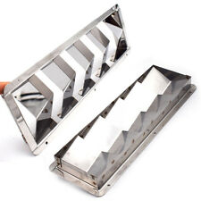 """2X Marine Grade Polished 316 Stainless Steel Louver 5 Slot Vent 12-7/8"""" x 4-3/8"""""""