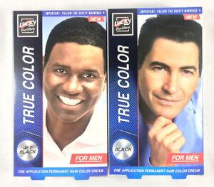 Lucky For Men Permanent Hair Black Jet Black Color Hair Dye True