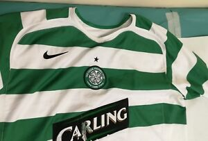 GENUINE-AUTHENTIC-CELTIC-FOOTBALL-SOCCER-HOME-SHIRT-ADULT-xl-8-2005-2007