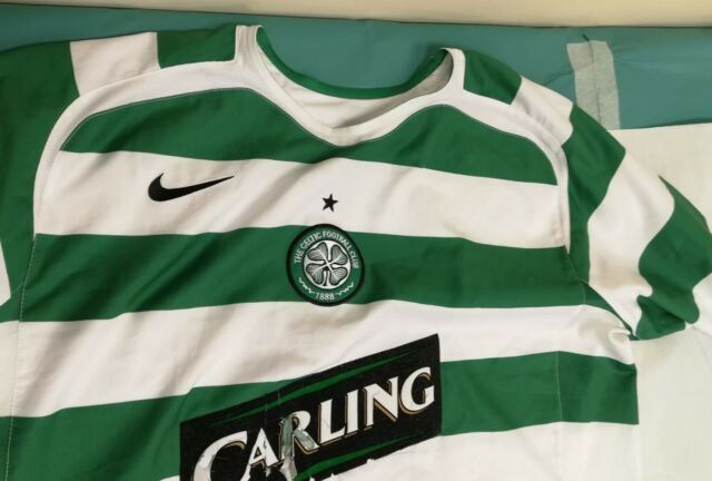 GENUINE AUTHENTIC CELTIC FOOTBALL SOCCER HOME SHIRT ADULT xl #8 2005-2007