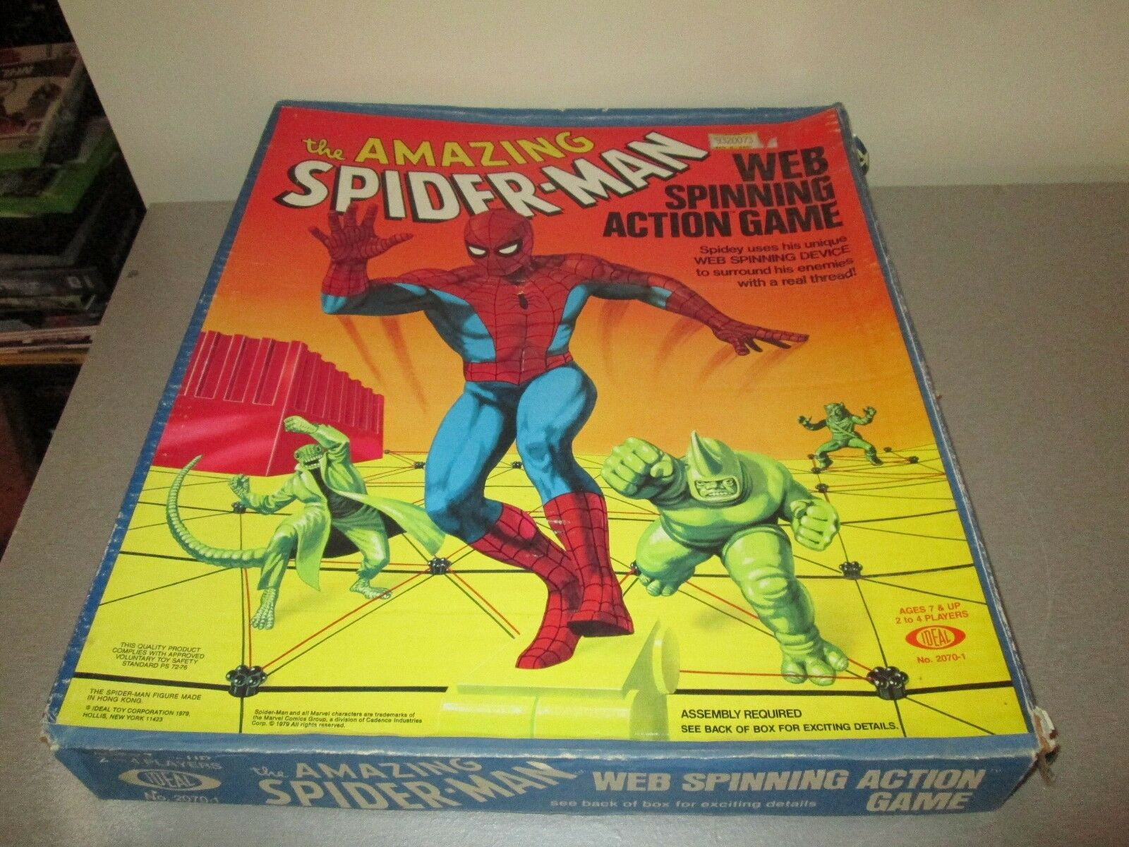 Vintage 1979 The Amazing Spiderman Web Spinning Game Complete in Box