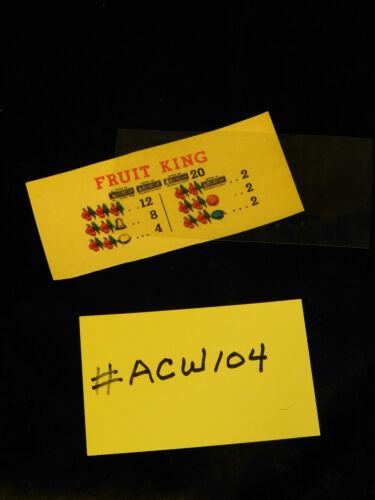 MILLS QT FRUIT KING AWARD CARD FOR AN ANTIQUE SLOT MACHINE #ACW-104