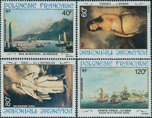 French-Polynesia-1981-Sc-C187-C190-SG356-359-18th-Century-Paintings-set-MNH