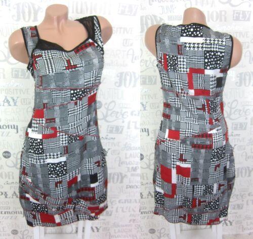 L33 Paris Kleid Tunika Freizeitkleid Kariert Print 38 40 42 44 46 48 X1585